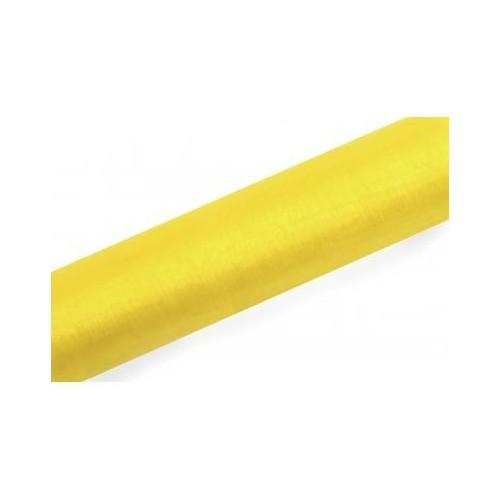 Organza gładka - żółta