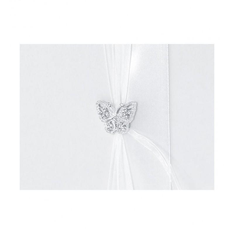 Biała księga gości z motylkiem
