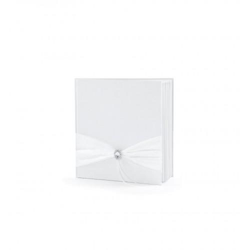 Biała księga gości z białą tasiemką