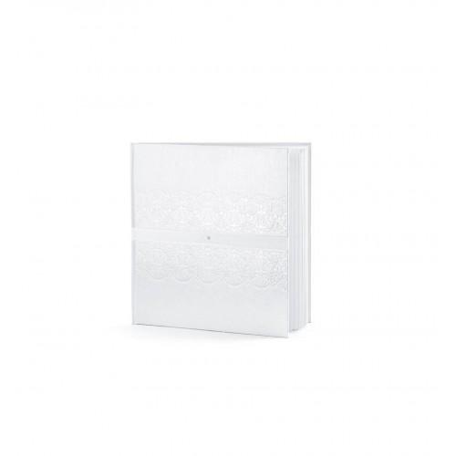 Biała księga gości z tłoczonym wzorem