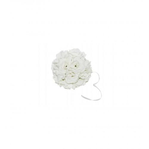 Biała kula kwiatowa