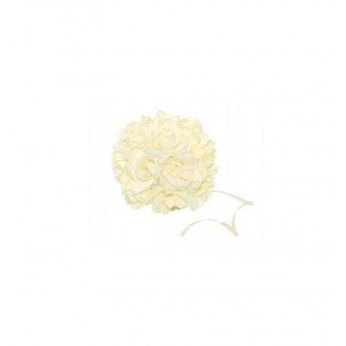 Kremowa kula kwiatowa