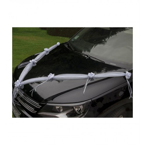 Białe girlandy na samochód