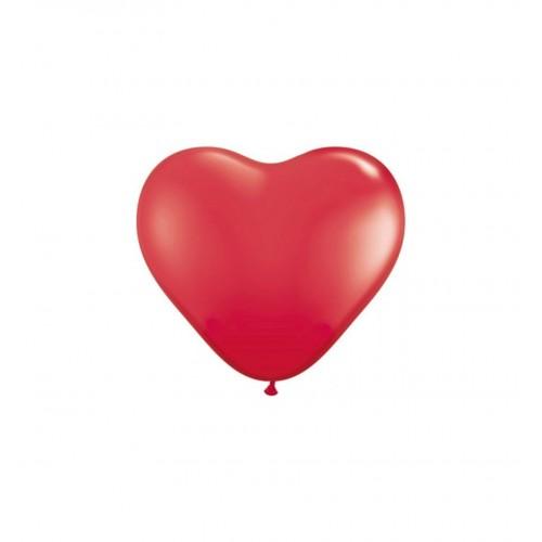 Balony w kształcie serca - czerwone - 25 cm (10 sztuk)