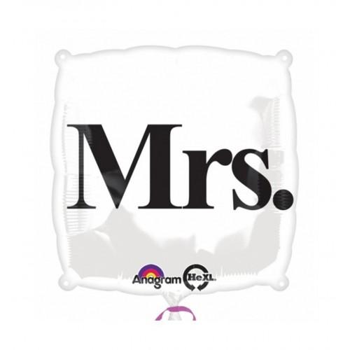 """Foliowy balon z napisem """"Mrs."""""""