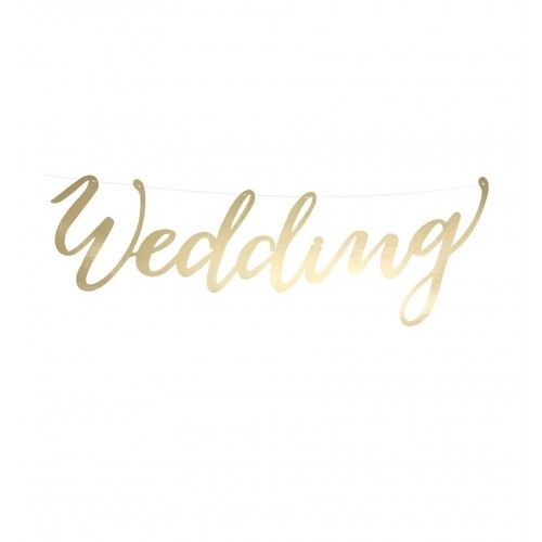 "Baner ""Wedding"" - złoty"