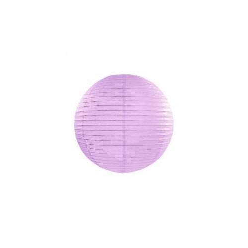 Lampion papierowy - kula - lawendowy