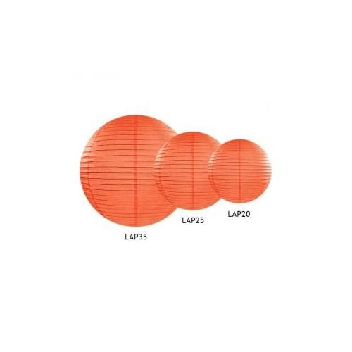 Lampion papierowy - kula - pomarańczowy