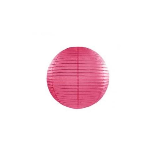 Lampion papierowy - kula - ciemno-różowy