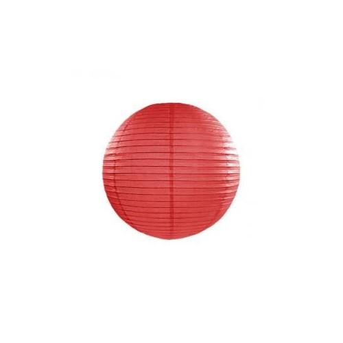 Lampion papierowy - kula - czerwony