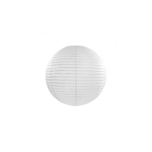 Lampion papierowy - kula - biały