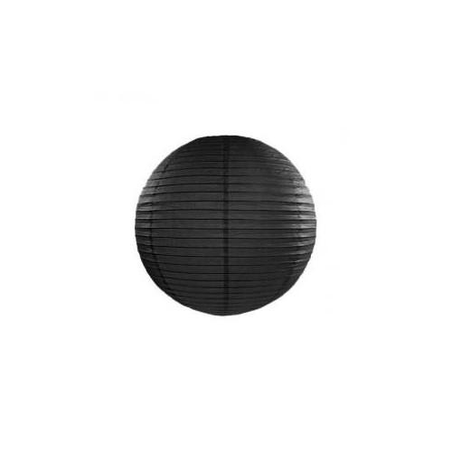 Lampion papierowy - kula - czarny