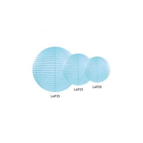 Lampion papierowy - kula - błękitny