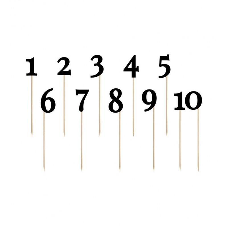 Numery stolików czarne