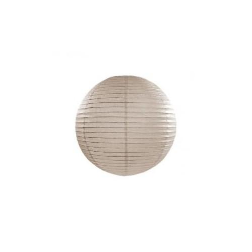 Lampion papierowy - kula - beż