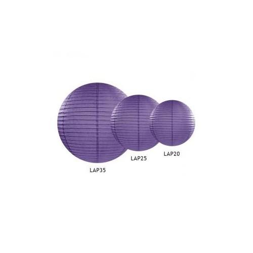 Lampion papierowy - kula - fioletowy