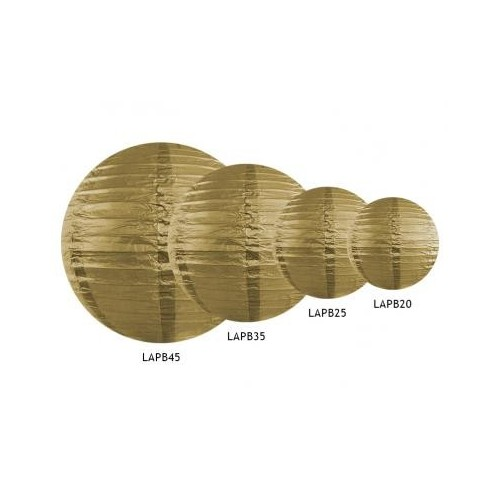 Lampion papierowy - kula - złoty