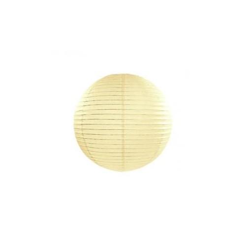 Lampion papierowy - kula - kremowy