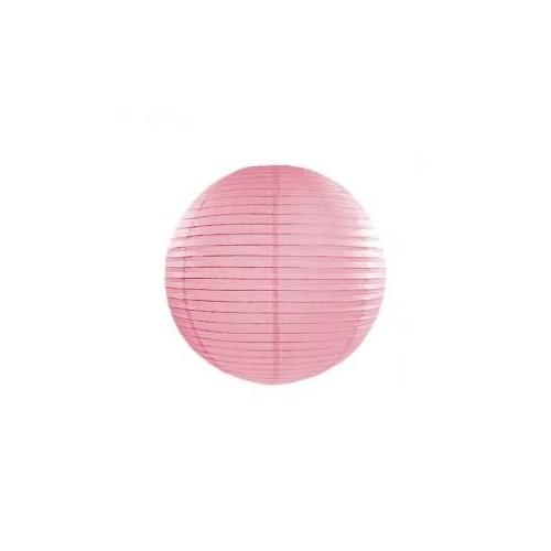 Lampion papierowy - kula - różowy