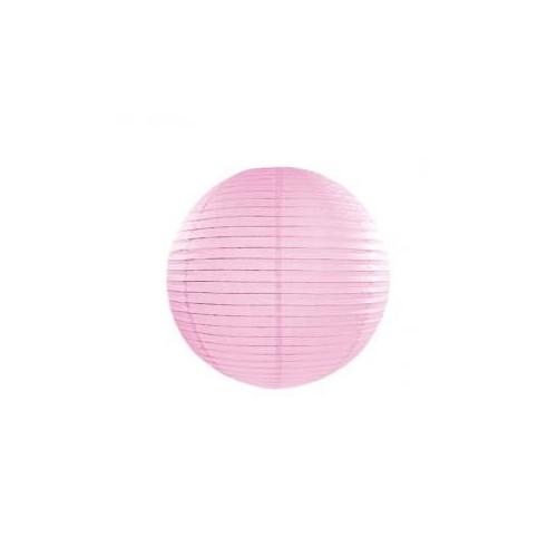 Lampion papierowy - kula - jasno-różowy