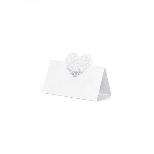 Winietki na stół z sercem 3d (10 sztuk)