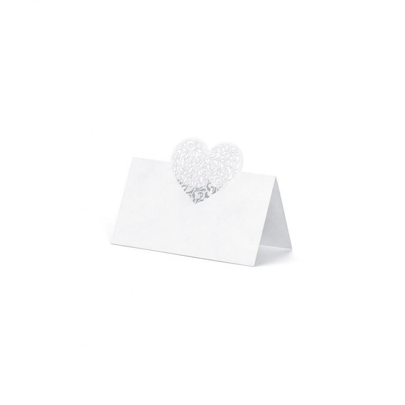 Winietki na stół z sercem 3d (25 sztuk)