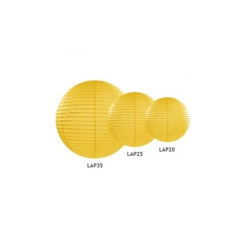 Lampion papierowy - kula - żółty