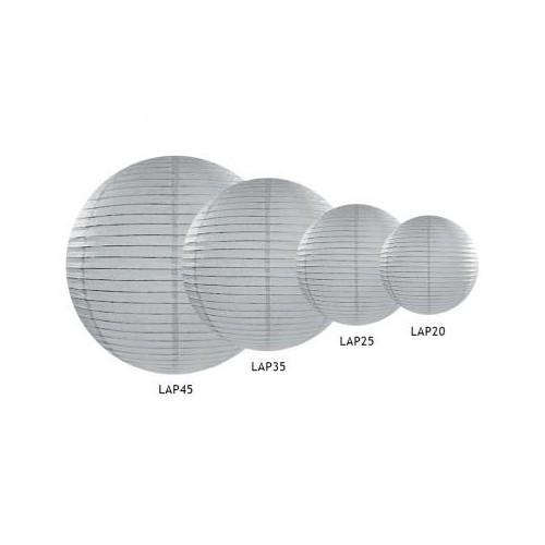Lampion papierowy - kula - szary