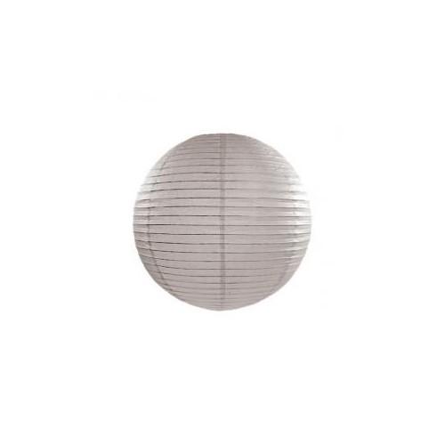 Lampion papierowy - kula - pudrowy szary