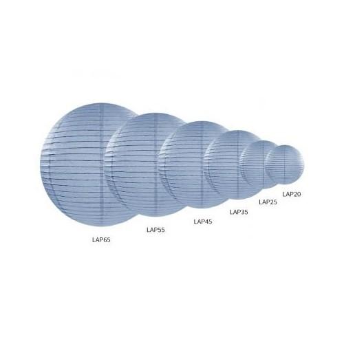 Lampion papierowy - kula - jasny mglisto-niebieskie