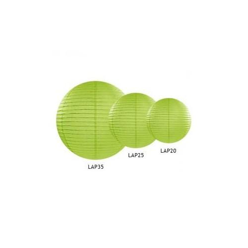 Lampion papierowy - kula - zielone jabłuszko
