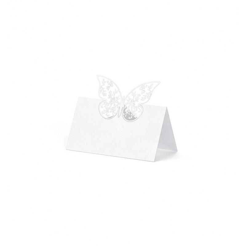 Winietki na stół z motylem 3d (10 sztuk)