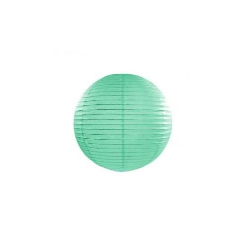 Lampion papierowy - kula - miętowy