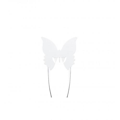 Winietki w kształcie motyla zakładane na kieliszek (10 sztuk)