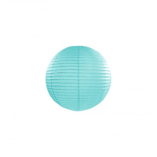 Lampion papierowy - kula - tiffany blue