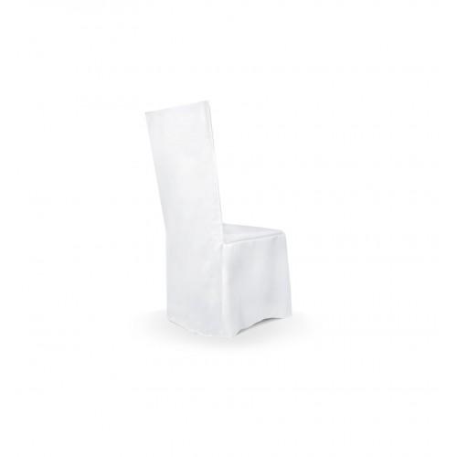 Pokrowiec z matowej tkaniny - na krzesło z kwadratowym oparciem