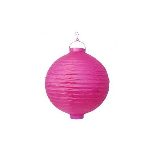 Lampion papierowy - różowy