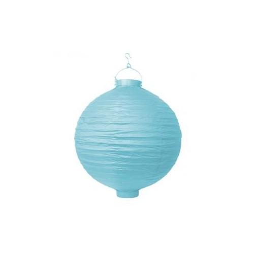 Lampion papierowy - błękitny