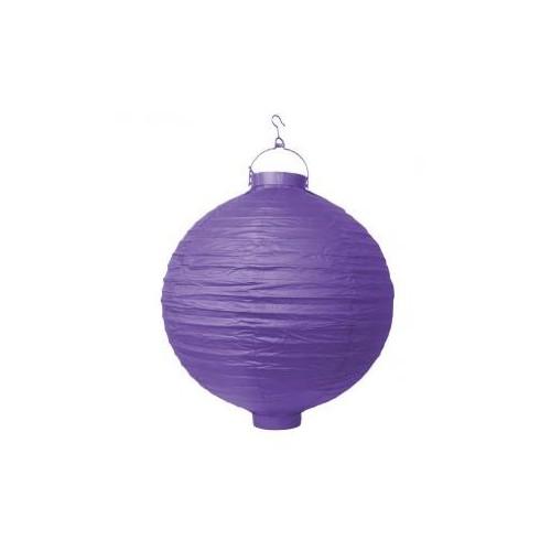 Lampion papierowy - fioletowy