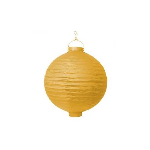 Lampion papierowy - żółty