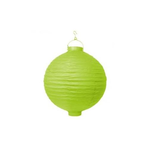 Lampion papierowy - zielone jabłuszko