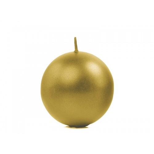 Metalizowana świeca kula - złoty