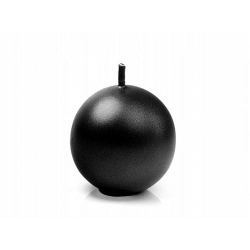 Metalizowana świeca kula - czarny