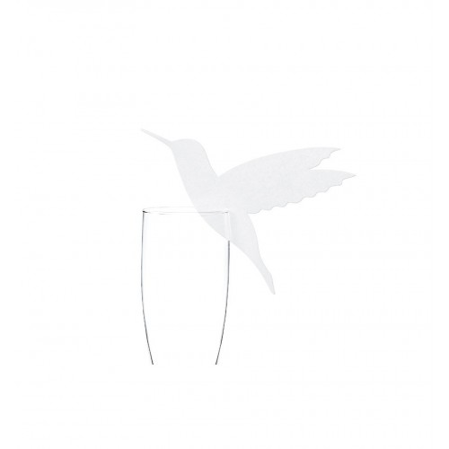 Winietki imitujące kolibra na kieliszek (10 sztuk)