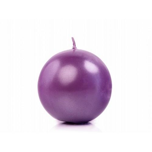 Metalizowana świeca kula - purpurowy