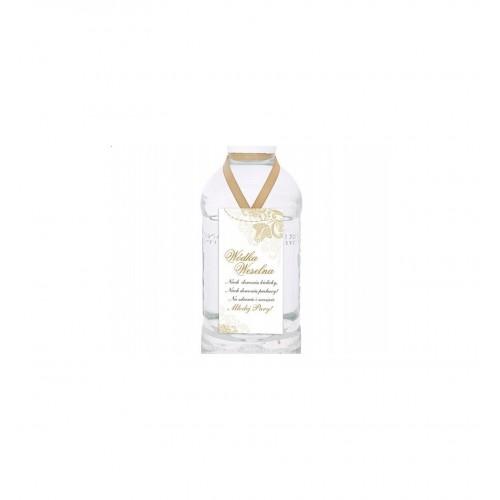 Zawieszki dekoracyjne na wódkę biało - złote (25 sztuk)