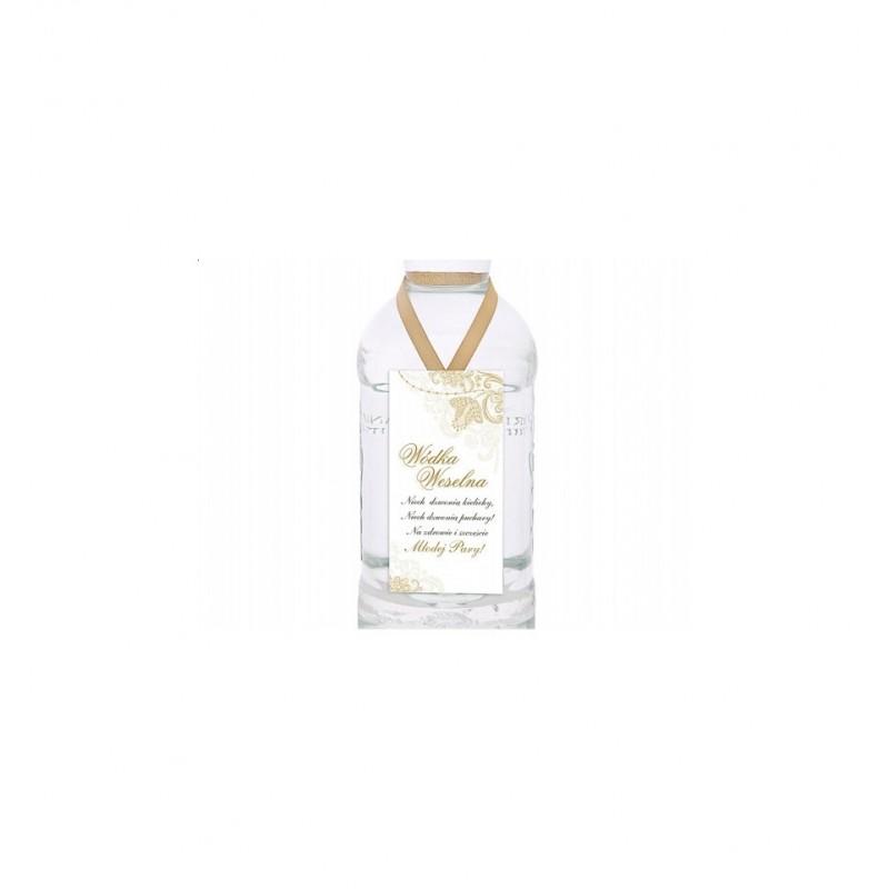 Zawieszki dekoracyjne na wódkę biało-złote (25 sztuk)