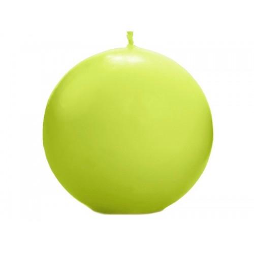 Matowa świeca kula - jasna zieleń