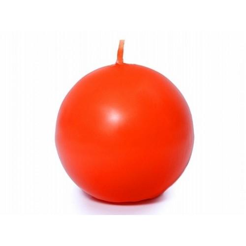 Matowa świeca kula - pomarańczowy