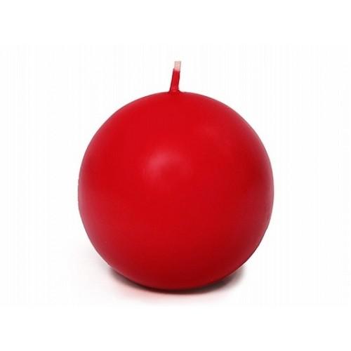 Matowa świeca kula - czerwony
